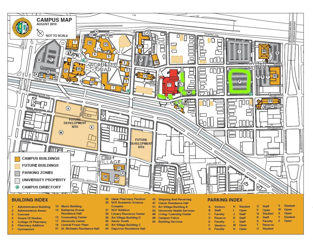 Tulane University Campus Map Mit Hillel