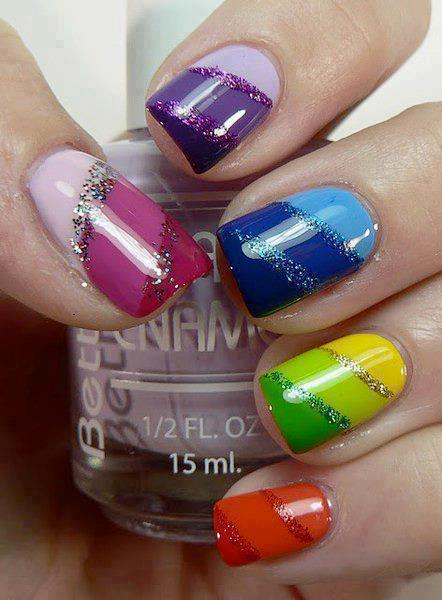 Colorful nail designs for ladies