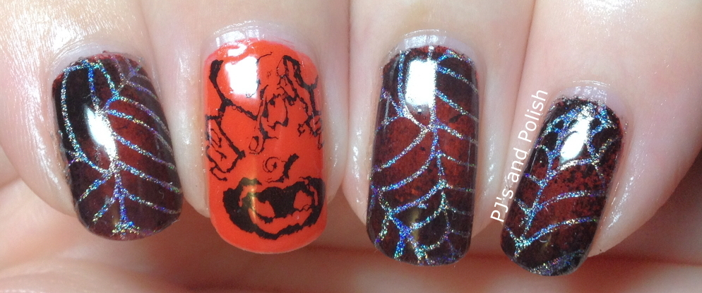 Random Nail Art Halloween Barielle FingerPaints Black Expressionism Color Club Harp On It HK Girl Moyou Pro 05 Bundle Monster BM-224