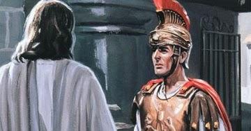 Resultado de imagem para jesus e o oficial romano