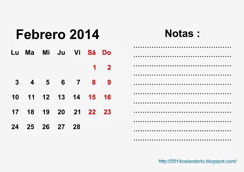 Calendario 2014 Imprimir Calendario Para Imprimir
