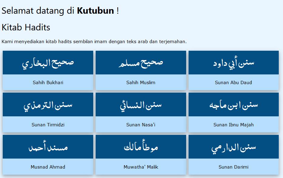 Kitab Hadits 9 Imam
