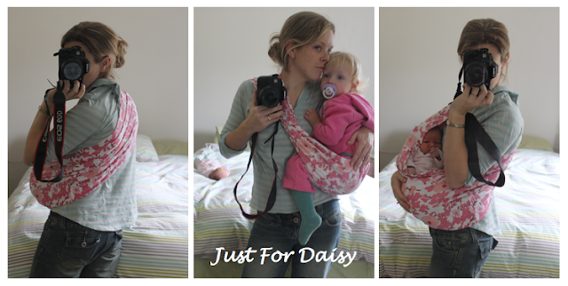 Babywearing DIY sling - Just For Daisy
