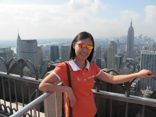 New York City Top of the Rock view of Empire State and Chrysler building