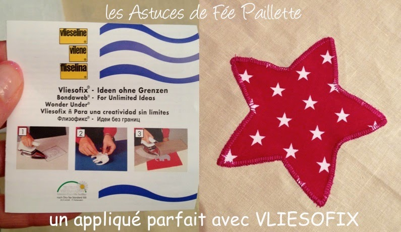 Les astuces de f e paillette tuto diy couture facile coudre un appliqu avec vliesofix de - Diy couture facile ...