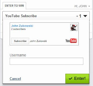 Embedding YouTube Subscribe Widget in Rafflecopter