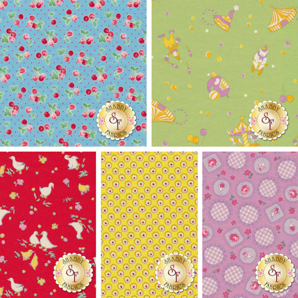 Shabby Fabrics | Retro 30's Child Smile by Lecien Fabrics
