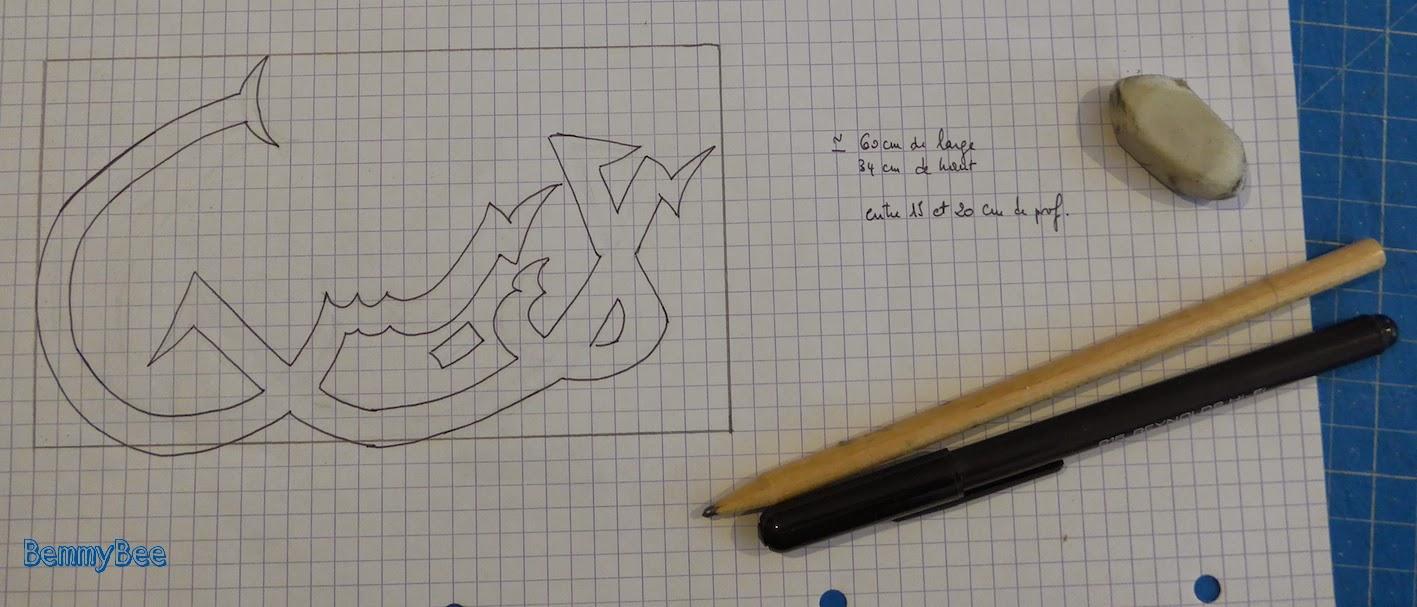 calligraphie en carton