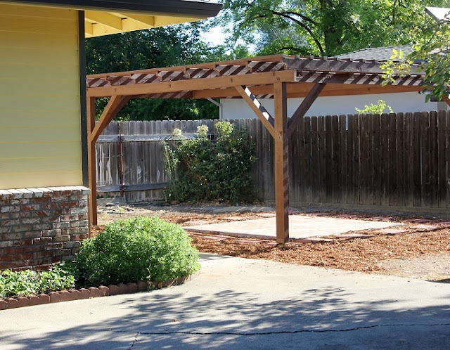 my cozy corner how to build a pergola