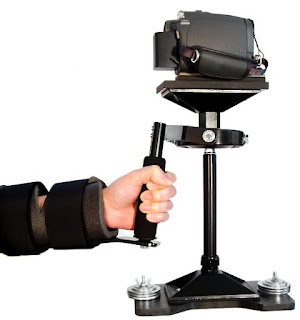 Camera Stabilizer Arm Brace Shown With the MiniDV Stabilizer