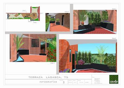 Proyecto de paisajismo y jardinería con jardineras de acero corten