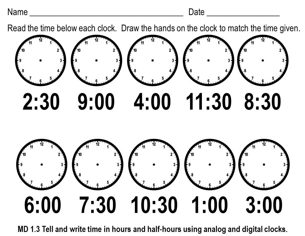 Tune Into Telling Time – Math Time Worksheets