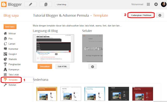 cara paling mudah download template blog sendiri terbaru | tutorial blog dan adsense pemula