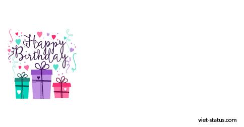 Status chúc mừng sinh nhật - mẫu 2