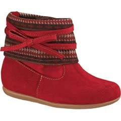 Bota roja material textil infantil modelo 4918