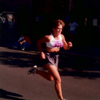 Nan sprinting for the finish line