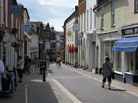 The main shopping street in Woodbridge