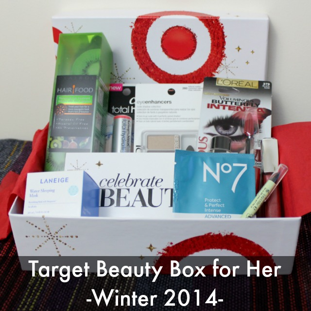 Target Beauty Box For Her Winter 2014 Unboxing review $10 box