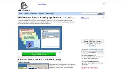 GloboNote, Desktop Widget