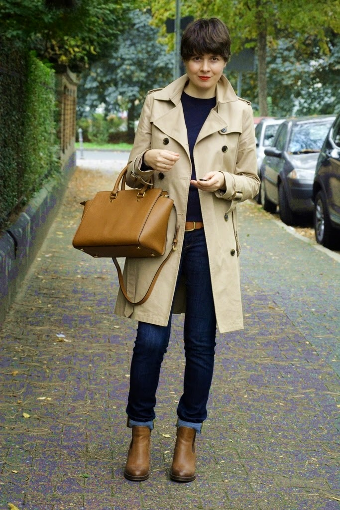 Michael Kors bag, trench coat, trenchcoat, MAC lipstick