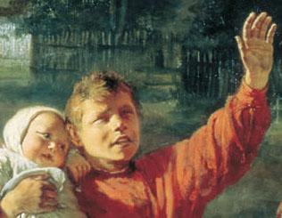 Alexei Korzukhin, There Goes Petrushka, 1888, detail