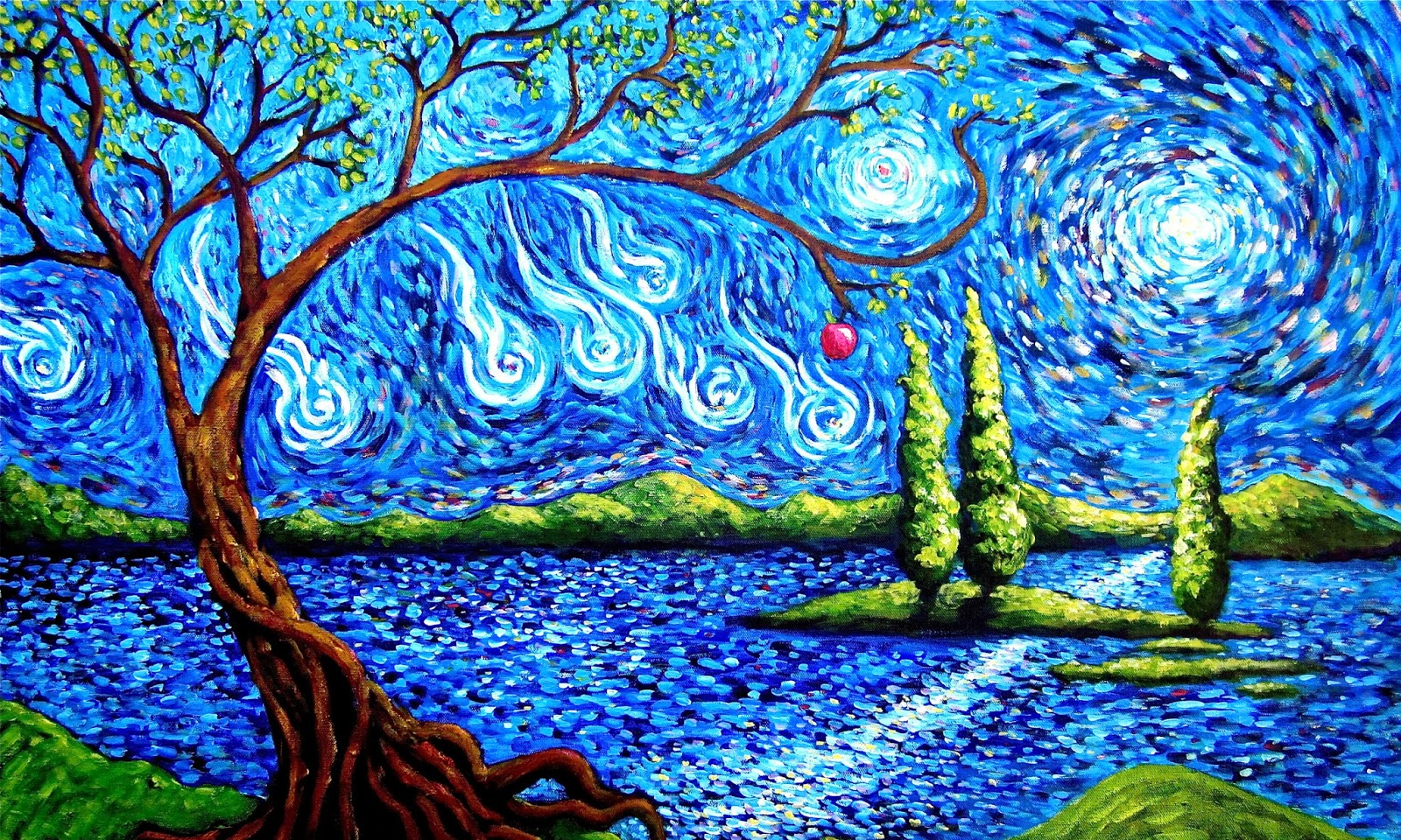 Abstract tree hd wallpapers hd wallpapers high for Abstract impressionism definition