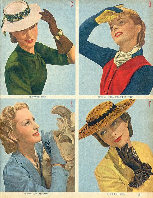 1940s Glove Selection #40s #gloves #1940s #fashion