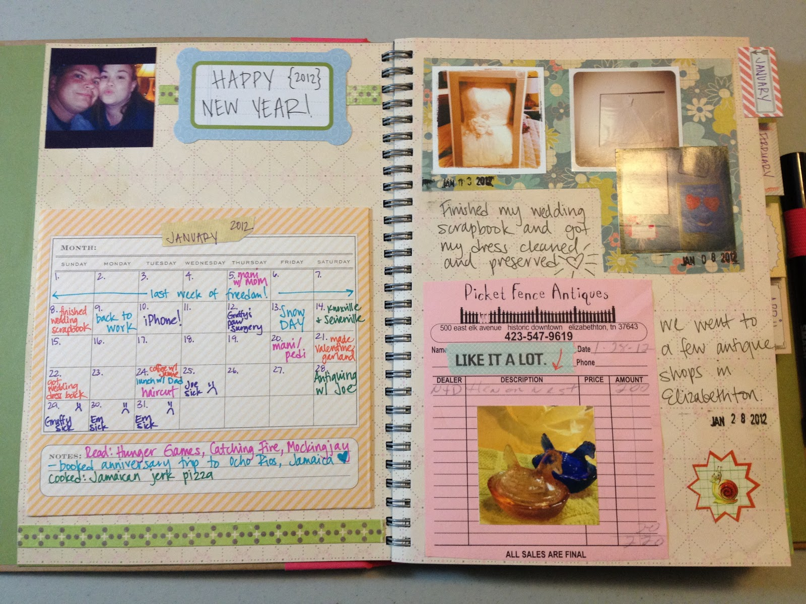 Mrs Crafty Adams This Time Last Year Project Life SMASH Book January 2012
