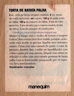 RECEITA DE TORTA DE FRANGO COM BATATA PALHA