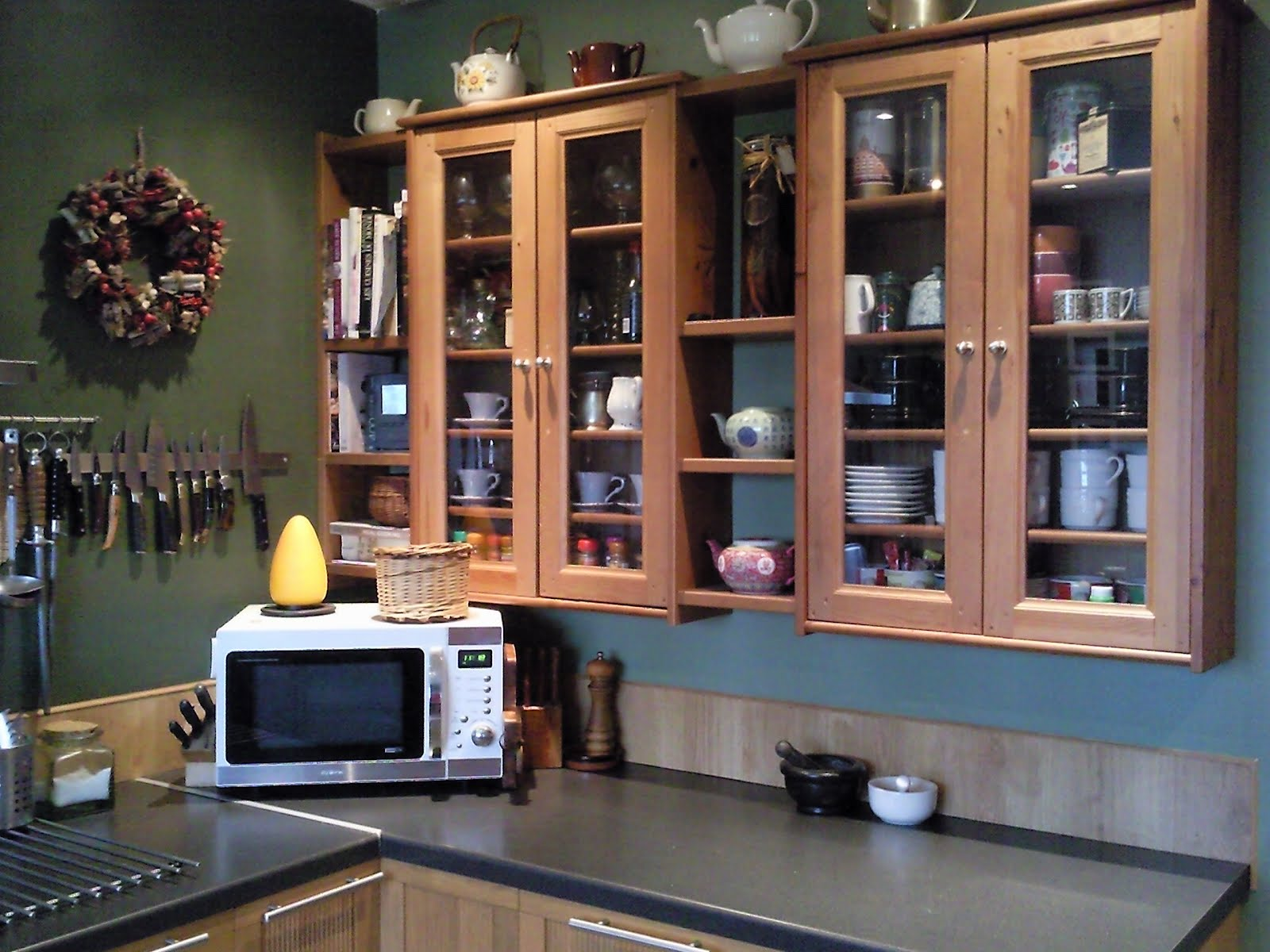 Leksvik Pine CD Cabinets And Ikea Pine Shelves Kitchen Cabinets