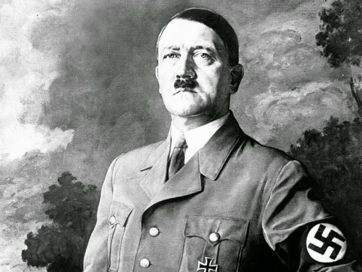 portrait of Hitler worldwartwo.Filminspector.com