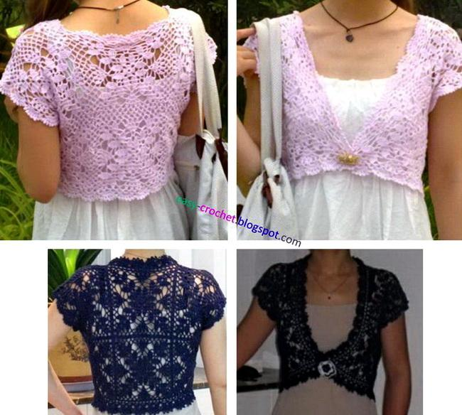 Crochet Bolero Pattern : Crochet Patterns to Try: Free Crochet Pattern for Summer Wedding Shrug ...