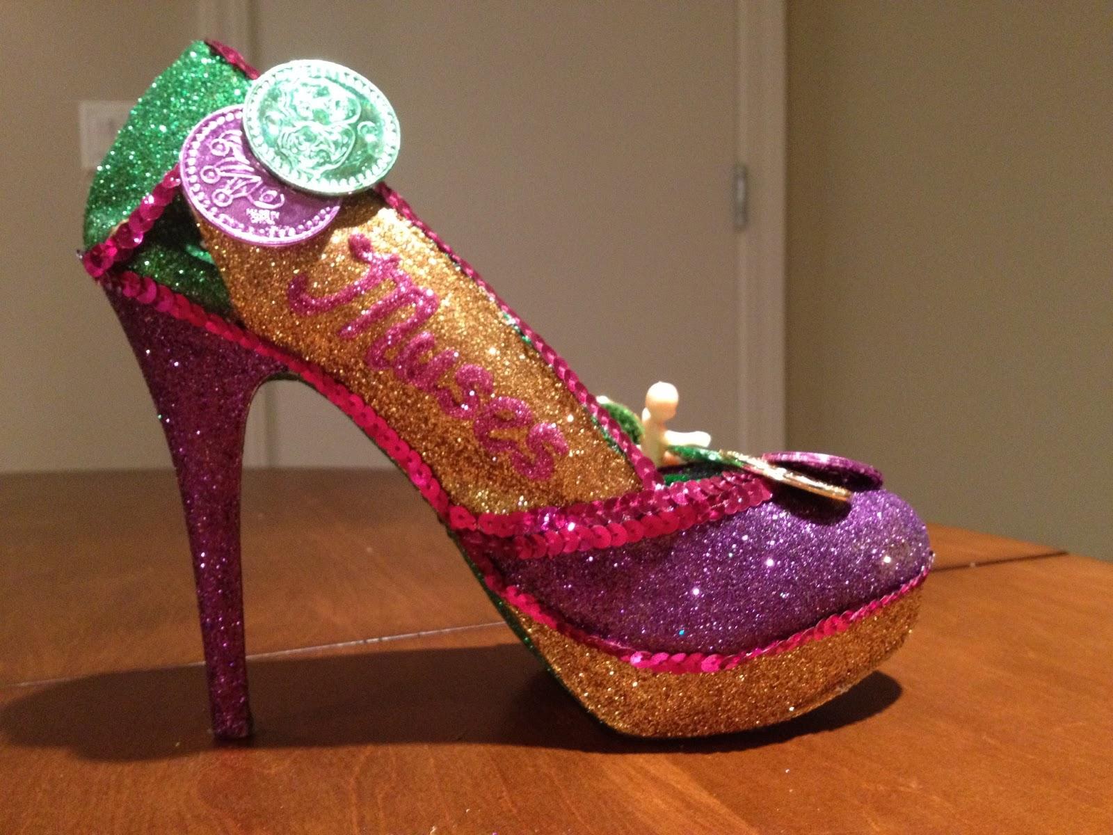 The Mardi Gras Doubloon Shoe