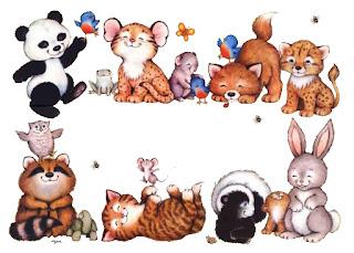 marcos con animales para imprimir