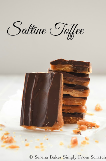 Saltine Toffee is highly addictive and so good! A great gift to give at Christmas!
