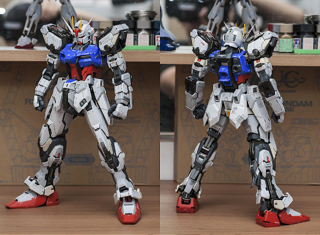 PG Aile Strike Gundam modeler paint build