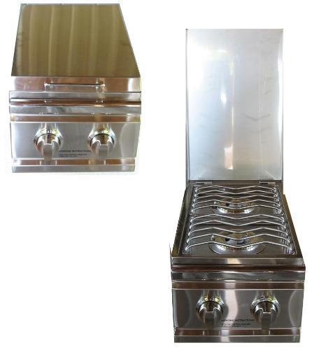 Outdoor kitchen rdb1 stainless steel drop in side burner for Drop in grills for outdoor kitchens