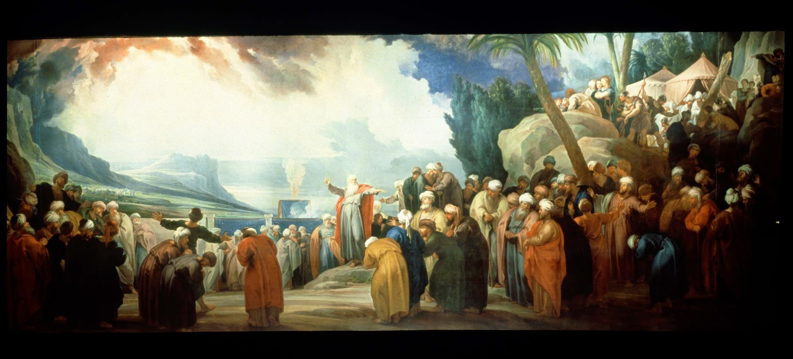 http://commons.wikimedia.org/wiki/File:Jacob_de_Wit_-_Moses_elects_the_Council_of_Seventy_Elders_-_Google_Art_Project.jpg