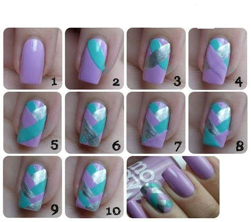 Nail art: Unhas Fishtail