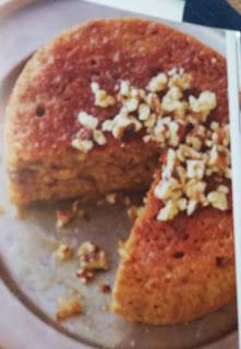 Slow Cooker Desserts  cider glazed apple walnut cake