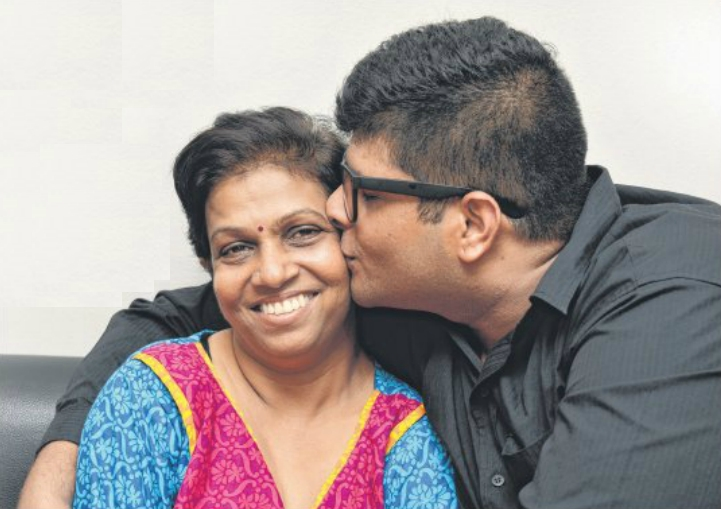 A CHANGED MAN: Mr Narayanan cleaned up his act after his mother was struck by cancer and stroke in 2013.