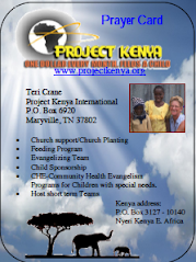 Project Kenya Prayer Card
