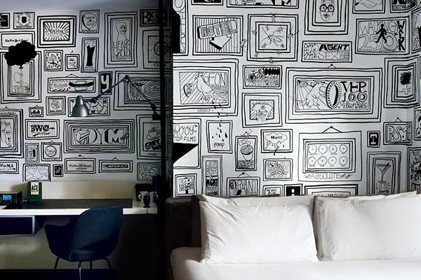 Paredes de hotel pintadas - Paredes pintadas a cuadros ...