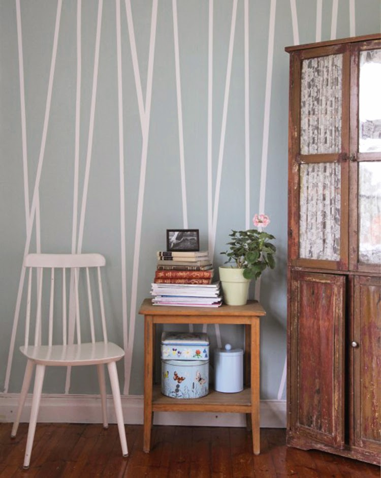 Diy monday accent wall ohoh blog for Bedroom stripe paint ideas