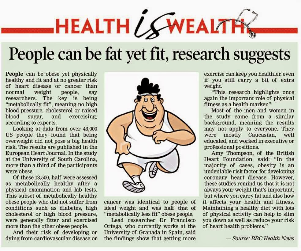 physical health newspaper articles