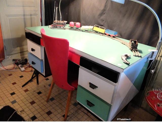 bureau années 50 atelier M. Cheriau Mortagne-au-perche