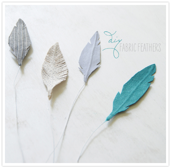 Cute Fabric Feathers