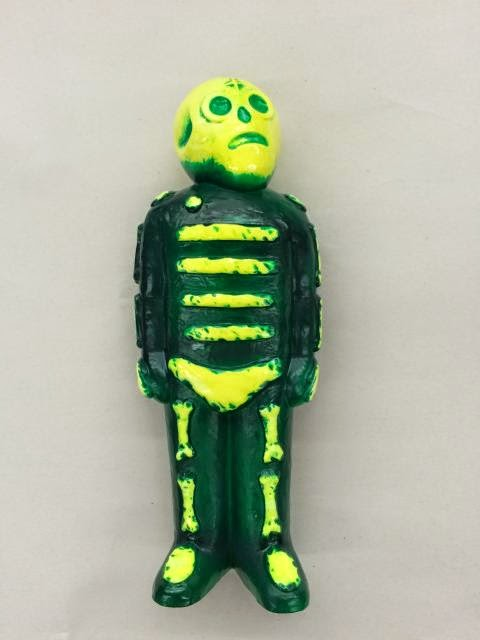 Yellow & Green Marbled Bones Vinyl Figure by Mike Egan