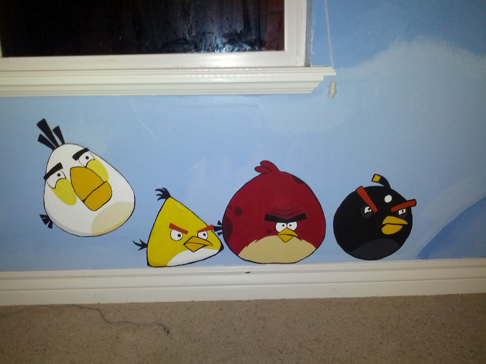 premature midlife crisis angry birds themed bedroom