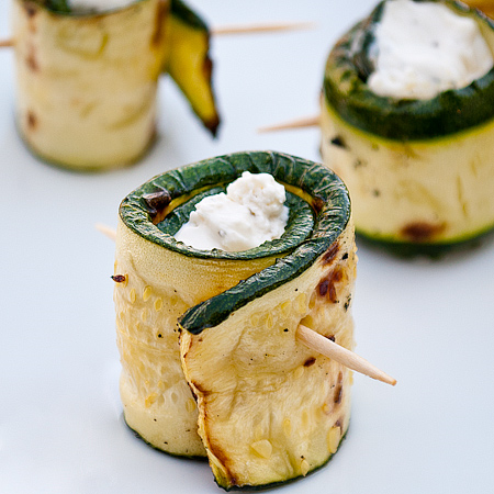 Stuffed grilled zucchini wraps! Can I get a heck yeah! Source